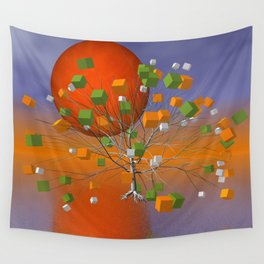 fancy tree and full moon -1- Wall Tapestry