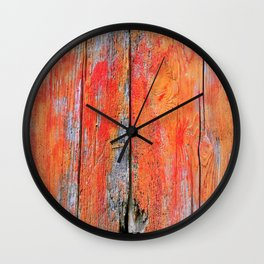 Weathered Wood Shutter rustic decor Wall Clock