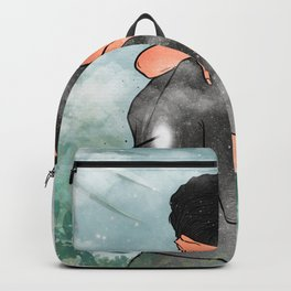The love arrow colored. Backpack