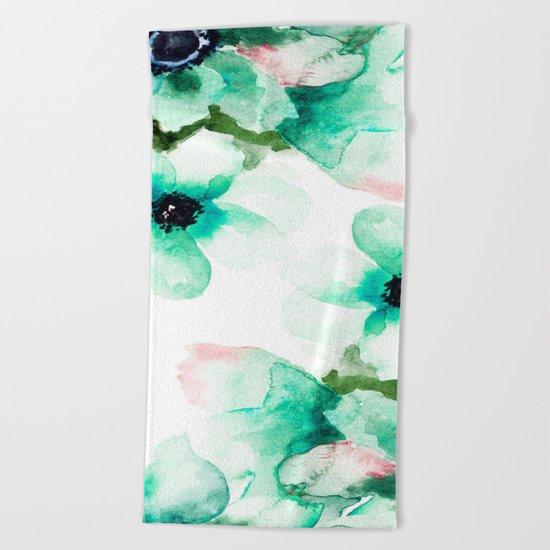 Flowers 07 Beach Towel