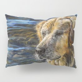 One Wet Golden Retriever by Teresa Thompson Pillow Sham