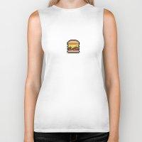hamburger Biker Tanks featuring Hamburger by Andrew Onorato