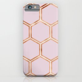 Copper candy honeycomb iPhone Case