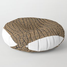 Leather Texture Brown Snake Skin Pattern Gift Floor Pillow