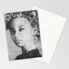 PORTRAIT (Woman with butterflies) Stationery Cards
