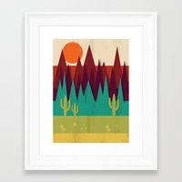 arizona Framed Art Prints featuring Arizona by Kakel