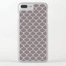 Warm Gray Scales Clear iPhone Case
