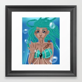 Sea Mermaid by melbelleroseart Framed Art Print