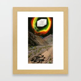 Space Cowboys 2 or Oh Fuck There Is A Giant Cube Coming Near Us Framed Art Print