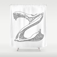 "dragonball z Shower Curtains featuring ""Z"" by varvar2076"