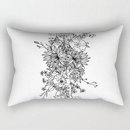 LINE ART FLORAL BOUQUET Rectangular Pillow