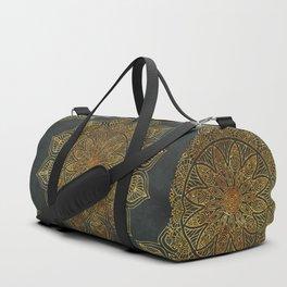 Mandala Vintage Gold Duffle Bag