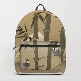 Sparrows And Bamboo Backpack