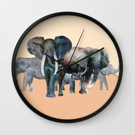 The Elefant Squad Wall Clock