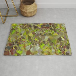 green color with elegant sparkling geometric crystals 843884 Rug