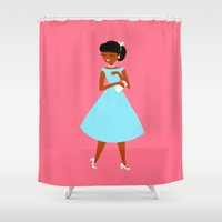 blush Shower Curtains featuring Blush by Virginia Skinner