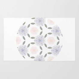 Floral circle Rug
