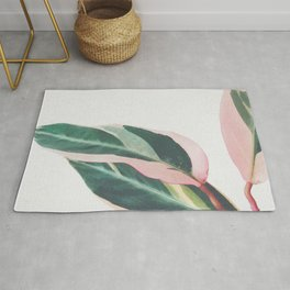 Pink Leaves II Rug