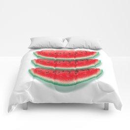 Slices of watermelon Comforters