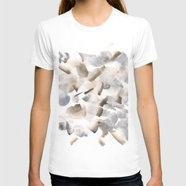 180630 Grey Black Brown Neutral Abstract Watercolour 9 T-shirt