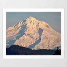 Twilight Over Mount Hood Art Print