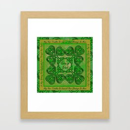 Celtic Irish Clover Duvet Framed Art Print