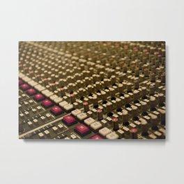 Control Room Metal Print