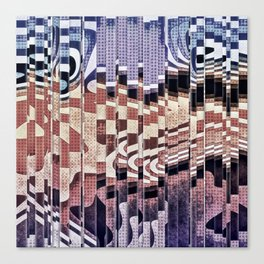 Abstract Halftones Collage Canvas Print