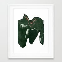 the smiths Framed Art Prints featuring Depressing Smiths by James T. Green