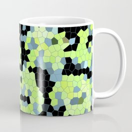 Cell Print Home Decor Graphic Design Pastel Colors Green Grey Blue Black Mint Lime Kiwi Coffee Mug