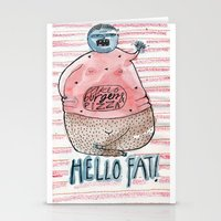 fat Stationery Cards featuring FAT by PranitaKocharekar