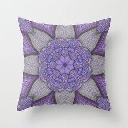Lavender Kaleidoscope Throw Pillow