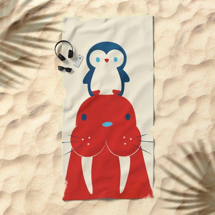 Penguin & Walrus Beach Towel
