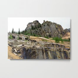 At the Base of the Sunnyside Mill at Eureka, on the Animas River Metal Print