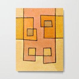 Protoglifo 04 'yellow hugging pink' Metal Print