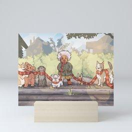 the whole family Mini Art Print