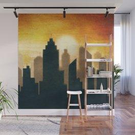City Sunset Wall Mural