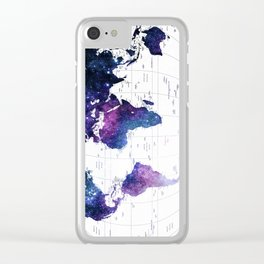 ALLOVER THE WORLD-Galaxy map Clear iPhone Case