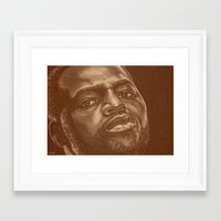 chad wys Framed Art Prints featuring round 8..chad dawson by noblackcolor