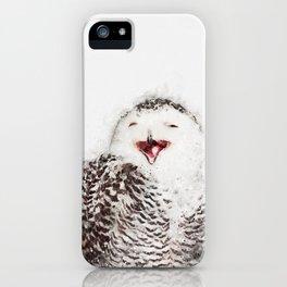 Happy Owl Watercolor iPhone Case