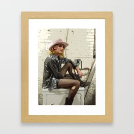 Determined Cowboy Framed Art Print