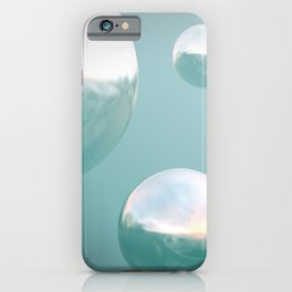Dreamy soap bubbles in a pastell sky  iPhone Case
