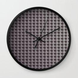 Abstract Grey Metal Dots Pattern Wall Clock