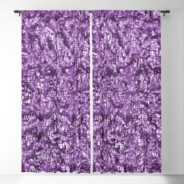 Violet Glitter Abstract PrintViolet Glitter Abstract Print Blackout Curtain