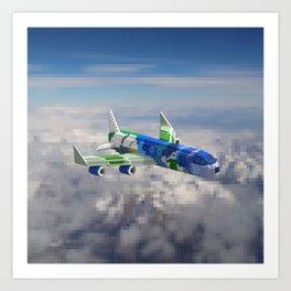 BlueBerry Airplane Art Print