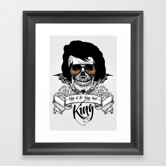 Elvis Presley | The King of the Living Dead Framed Art Print
