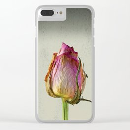 Old Rose on Paper Clear iPhone Case