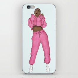 The Cool Chick Fashion IIlustration iPhone Skin