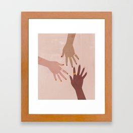 Love Is A Superpower Framed Art Print