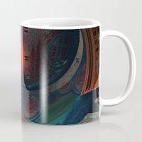 sci fi Mugs featuring Sci-Fi by Lyle Hatch